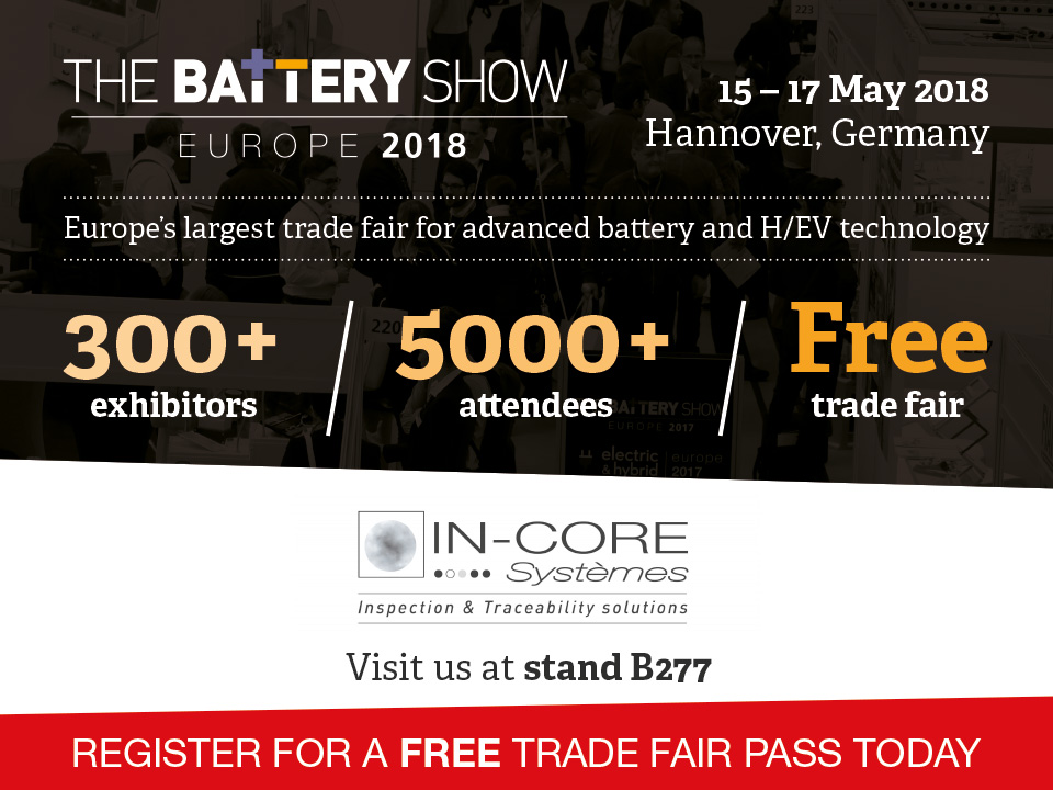 In-line control for Lithium-Batteries electrodes : the battery show